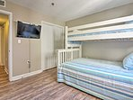 Choose your favorite DVD movie to watch on the flat-screen TV in the bunk room.