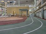 The indoor track is great for fitness junkies.