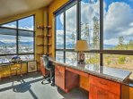 The home's second floor provides endless views of the distant mountains.