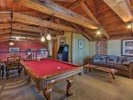 The game room is sure to be a favorite!