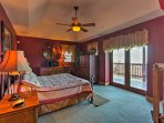 This cozy bedroom also features a king bed and direct access to outside.