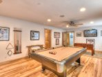 Inside the home, you'll find unique touches including this state of the art game room