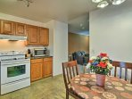 Share family feasts at the quaint kitchen nook table.