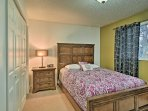 Both of the 2 bedrooms include comfortable queen-sized beds.