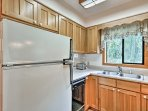 As you cook you'll be bathed in sunlight through the large kitchen window.
