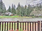 Admire the beautiful river views from the porch's rocking chairs.