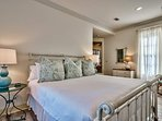 Head up to the second floor to access Guest Bedroom #3, where you'll find a king-size bed.