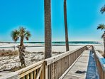 Enjoy your private walkway through the signature marram grass to the pristine shores of Seagrove Beach.