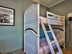 Bunk Bedroom #4 adds an elegant spin on traditional bunks, and can sleep two.