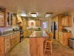 Head into the fully equipped kitchen and feel like you're in a Food Network studio.