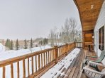 With views of both the forest and neighboring cattle ranch, the decks are memorable.