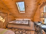 Head upstairs for the 3rd bedroom with a full bed and twin bed.