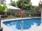Huge private saltwater pool in your beautifully landscaped garden
