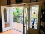French doors out to balcony