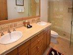 Double vanity bathroom. Tons of space!