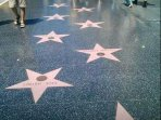 Famous Hollywood walk of fame on Hollywood Boulevard