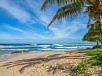 Banana beach looking towards Hanalei