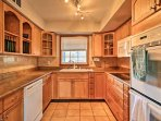 Prepare your favorite recipes in the fully equipped kitchen.