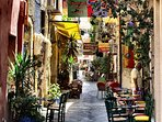 Charming small streets in Chania