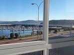 Puerto deportivo. Vista desde  las ventanas del piso