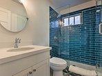 Freshen up in the luxury walk-in shower.