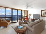 Whale watch from the private lanai in the winter and watch turtles below year-round!