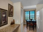 Spacious dining area with plenty of counter space and fully equipped kitchen