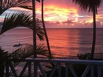 Sunset from the terrace....perfect with a rum & coke