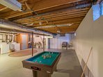 Bumper pool in basement