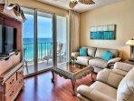 Majestic Sun 604B - Living Room Gulf Views