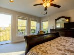The master bedroom also has its own private exterior balcony.