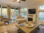 Unlike many of the Wild Dunes boardwalk homes, this home features windows & natural light on three sides of the...