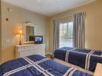 Perfect Room for the kids to relax and wind down for the night-Twin Beds, Cable TV, and its own entrance to the Guest...