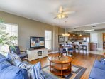 Spacious Newly Decorated Living Area with Bay Front Views, Flat Screen TV, and Queen Sleeper Sofa-Perfect for...