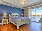 Large Master Suite with King Bed, Flat Screen TV, Private Balcony Entrance, Luxurious Master Bathroom-What a view to...