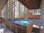 Complete with a built in hot tub!