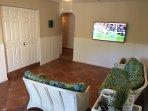Ground Floor Family Room Area W/New 60' Ultra HD Smart Sony TV