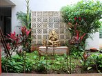 Lord Ganesh's blessings to us sits on his throne in the Atrium