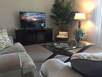 Great Room with 55-inch Flat Screen TV, Cable, DVD Player and Wi-Fi
