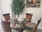 Dining Table with 6 Chairs Available