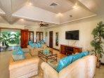 Indoor and outdoor areas combine as the breeze wanders through