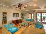 Comfy second-floor lounge area