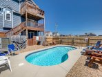 Stacked Deck | 59 ft from the beach | Private Pool, Hot Tub