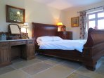 The kingsize bedroom in the farmhouse ...