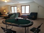 Poker table located in the loft area.