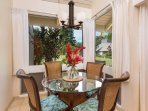 Dining table and dining nook