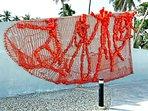 Discover the many public art, street art, and art shops in Jacmel.