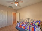 In the sixth bedroom you'll find a twin daybed with twin trundle bed.