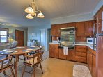 The kitchen is fully equipped to handle any of your home-cooking needs.
