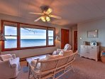 Unwind in the comfort of the living room while staring out  glass-like water or spotting bald eagles.